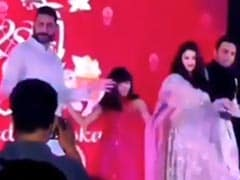 Viral: Aaradhya Bachchan Dancing To <I>Desi Girl</i> At Family Wedding With Abhishek And Aishwarya