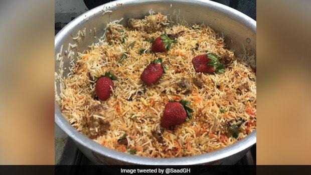 Viral: Strawberry Biryani!? Pakistani Man's Strange Recipe Worked Up The Internet