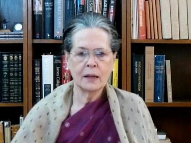 """Video : """"Very Disappointing... Unexpectedly So"""": Sonia Gandhi On Election Results"""