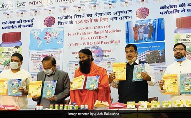 Coronil Allowed As Supporting Measure In Covid Management: Centre