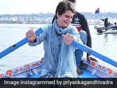 Watch: Priyanka Gandhi Vadra's Rowing Lesson From Boatman In UP