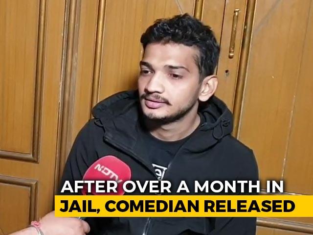"Video : ""Full Faith In Judiciary"": Comic Munawar Faruqui Walks Out Of Indore Jail"