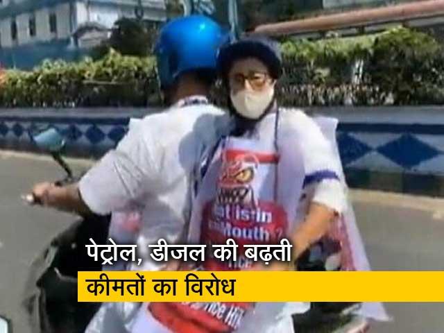 Videos : देश प्रदेश : सियासी घमासान के बीच ममता बनर्जी की ई स्कूटर पर सवारी