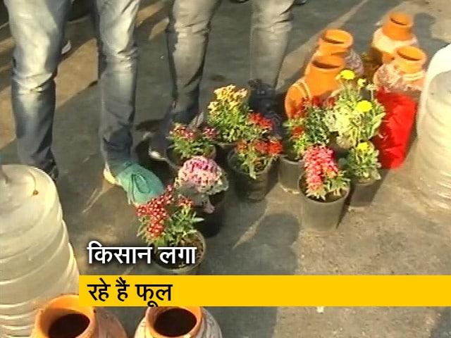 Video : किसान आंदोलन: गाजीपुर बॉर्डर पर पुलिस के कील के जबाव में किसानों का फूल
