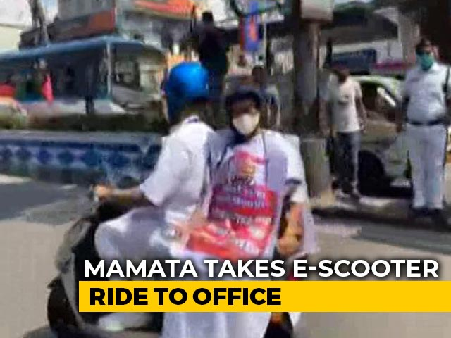 Video : After Tejashwi Yadav's Tractor Ride, Mamata Banerjee's Scooter Spin