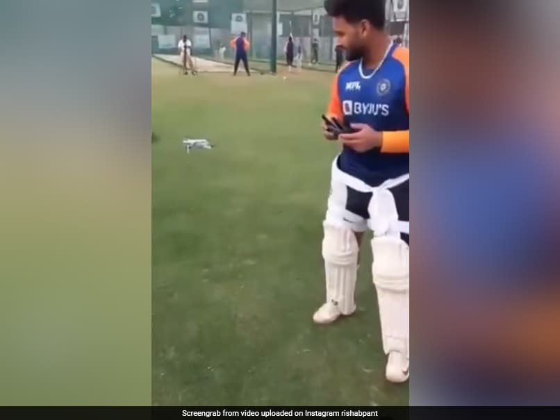 """IND vs ENG, 3rd Test: Rishabh Pant Gets Different View Of Net Sessions With """"New Friend Spidey"""". Watch"""