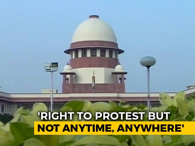 """Video : """"Right To Protest Cannot Be Anytime, Everywhere"""": Supreme Court"""
