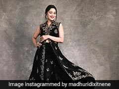Madhuri Dixit Is The Black Magic Woman Of Our Dreams In A Stunning Outfit