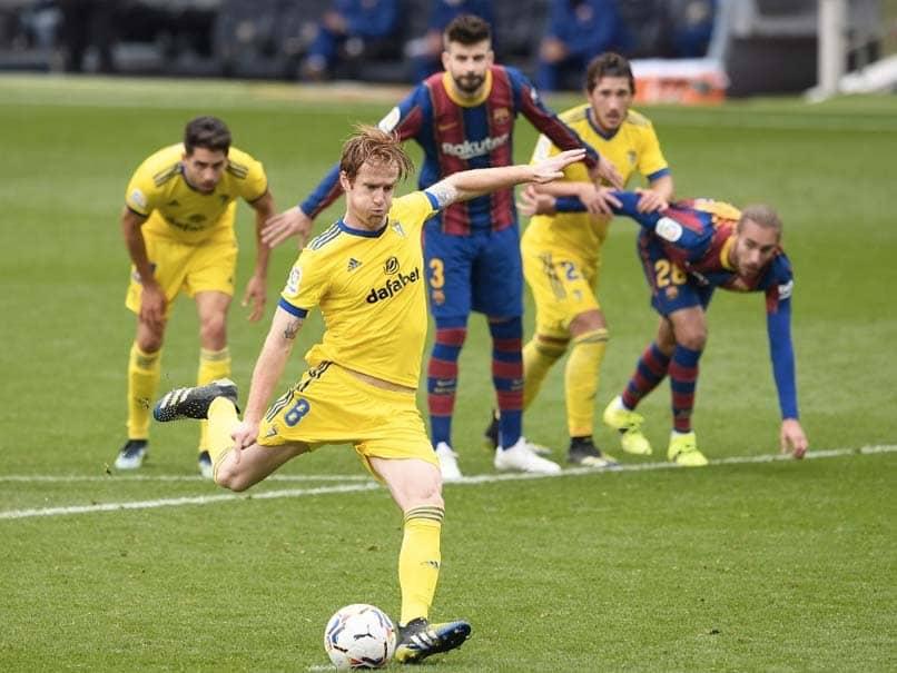La Liga: Barcelona Hit By Late Penalty As Cadiz Snatch 1-1 Draw At Camp Nou