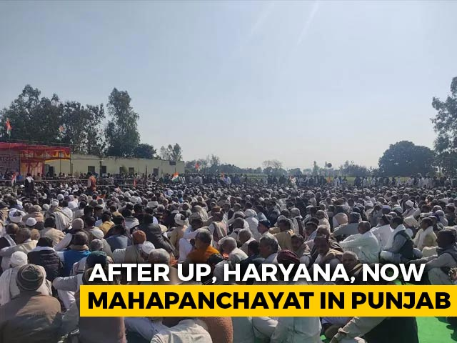 Video : Maha Panchayat In Punjab Amid Farmer Protests Today