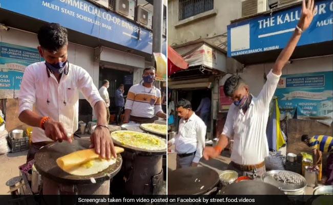 84 Million Views For Mumbai Man's 'Flying Dosa' Technique