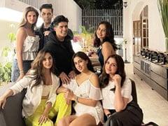 Sara Ali Khan, Kiara Advani, Parineeti Chopra, Rakul Preet Singh And Karan Johar At Manish Malhotra's House Party