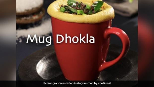 Watch: How To Make Instant Mug Dhokla - Recipe By Celebrity Chef Kunal Kapur