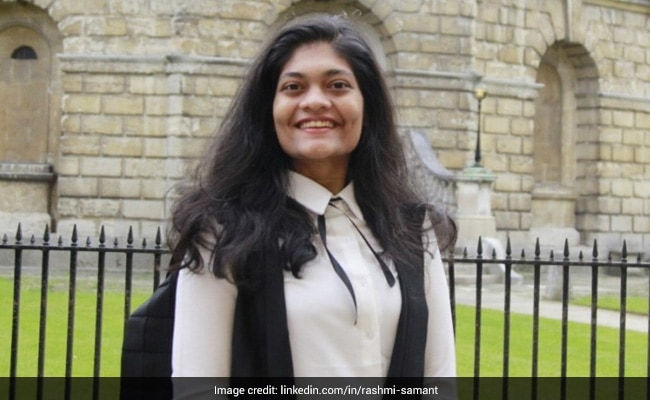 Rashmi Samant First Indian Lady To Head Oxford College students' Union