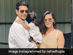 Angad Bedi Cuts Birthday Cakes With Daughter, Twice; Neha Dhupia Shares Adorable Video