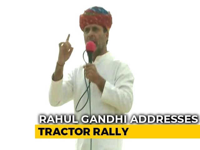 Video : Rahul Gandhi's Tractor Rally In Rajasthan's Ajmer Amid Farmers' Protest