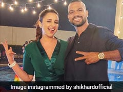 "Shikhar Dhawan Poses With Bollywood Actress Parineeti Chopra While Shooting Together, Thanks Her For ""A Superb Time"""