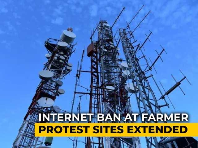 Video : Internet Ban At Farmer Protest Sites On Delhi Borders Extended Till Tomorrow