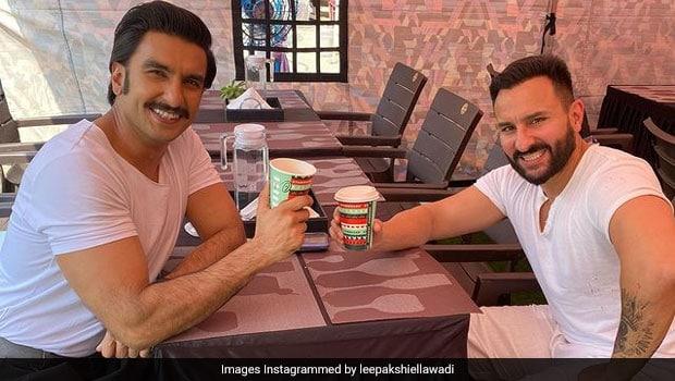 Ranveer Singh And Saif Ali Khan Clicked Together Having Coffee; Internet Is Excited