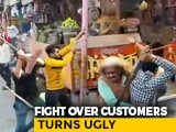 Video : On Camera, UP Shopkeepers Fight Over Customers, With Rods And Sticks