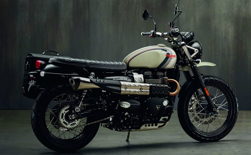 The Sandstorm is expected to be like a customised Street Scrambler pictured here