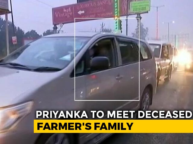 Video : Priyanka Gandhi To Meet Family In UP Of Farmer Who Died In R-Day Violence