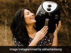 Romantic Photoshoot With Air Fryer Shows This Woman's True Love For The Kitchen Appliance