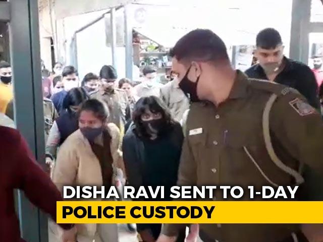 Video : Activist Disha Ravi Sent To Fresh 1-Day Police Custody In 'Toolkit' Case
