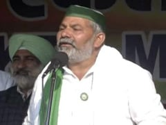 """We'll Win This Fight"", Says Farmer Leader Rakesh Tikait At <i>Mahapanchayat</i>"