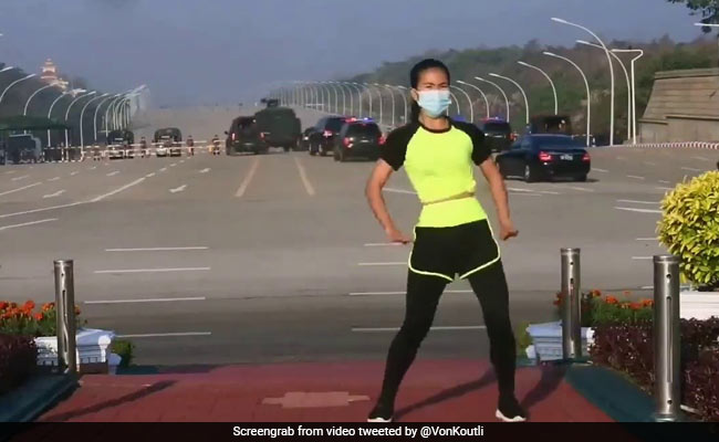 Viral Video: Aerobics Instructor Dances As Myanmar Coup Unfolds Behind Her