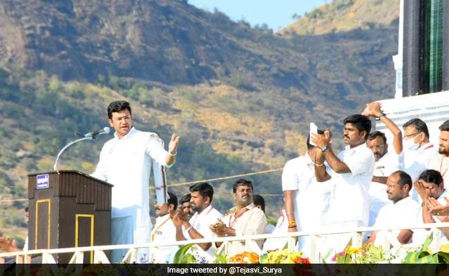 'DMK Is Anti-Hindu, Must Defeat It': BJP's Tejasvi Surya In Tamil Nadu