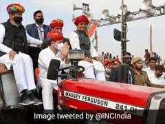 """Modi<i>ji Chahte Hain</i>..."": Rahul Gandhi At Rajasthan Tractor Rally"