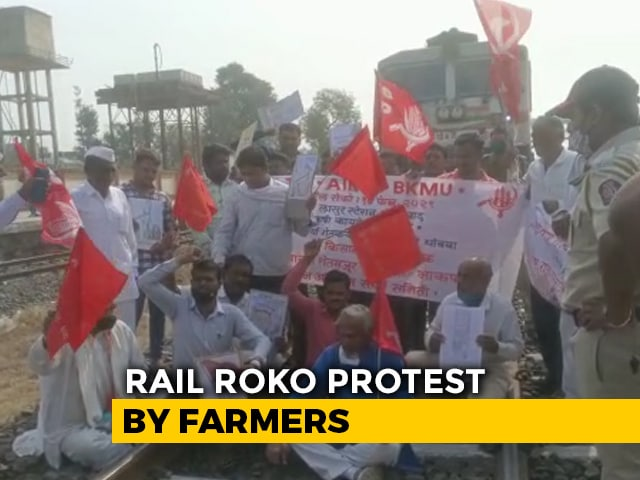 Video : Trains Stopped As Farmers Block Tracks In Haryana, UP Over Farm Laws