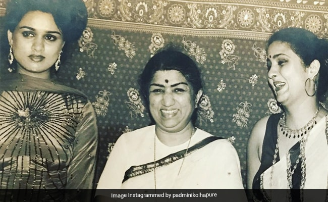 Lata Mangeshkar, Padmini And Leena Chandavarkar In A Beautiful Memory