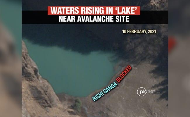 Satellite Pics Show 'Dangerous' Lake Formed By Uttarakhand Avalanche