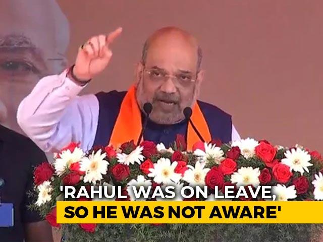"Video : ""Rahul <i>Bhaiya</i>... You Were On Leave"": Amit Shah On Fisheries Ministry Row"