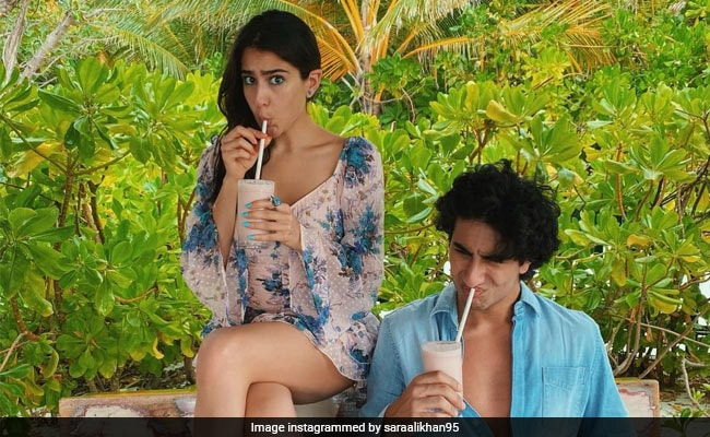 Sara Ali Khan, In A Maldives State Of Mind, Shared This Throwback Pic With Brother Ibrahim