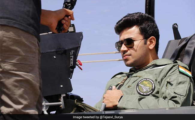 "BJP's Tejasvi Surya Taken For A Spin On Tejas Jet: ""Sharing Extra Pics"""