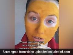 DIY Turmeric Face Mask Turns Woman's Face Yellow