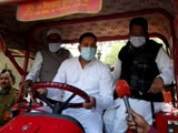Video : Tejashwi Yadav, On A Tractor, Protests Against Fuel Price Hike, Farm Laws