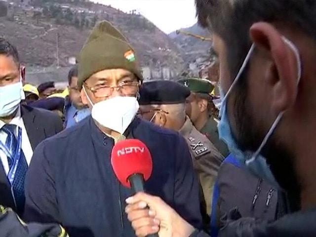 Video : Uttarakhand Disaster: Chief Minister Visits Joshimath, Talks To NDTV