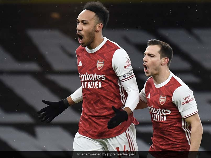 Premier League: Pierre-Emerick Aubameyang Hits Hat-Trick As Arsenal Hold Off Leeds United Rally