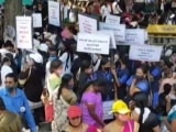 Video : Drone Camera Captures Big Protest By Teachers, Staff On Bengaluru Flyover
