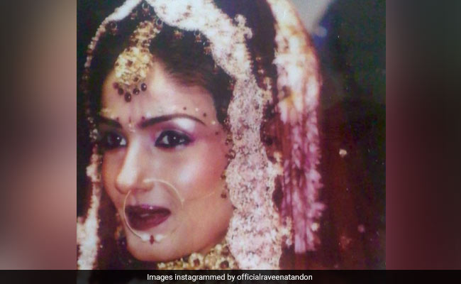 Pic: Raveena Tandon In A Throwback From Her Wedding - NDTV