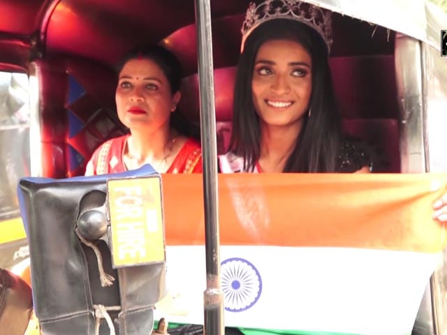 Video : Manya Singh, Miss India 2020 Runner Up, Arrives In Father's Autorickshaw For Felicitation Ceremony