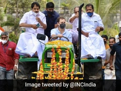 Rahul Gandhi Leads Tractor Rally In Kerala To Protest Against Farm Laws