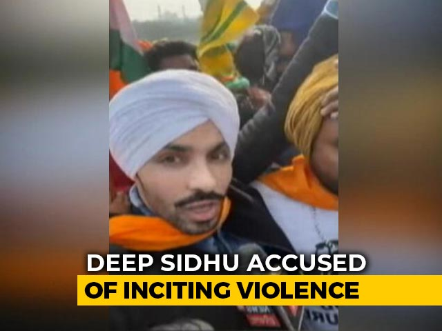 Video : Actor-Activist Deep Sidhu, Accused In Red Fort Violence, Arrested