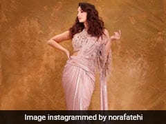 Dazzling In A Concept Saree, Nora Fatehi Is A Sight To Behold