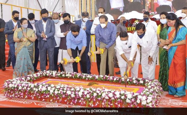 Uddhav Thackeray Lays Foundation Stone Of Sewri-Worli Elevated Corridor In Mumbai