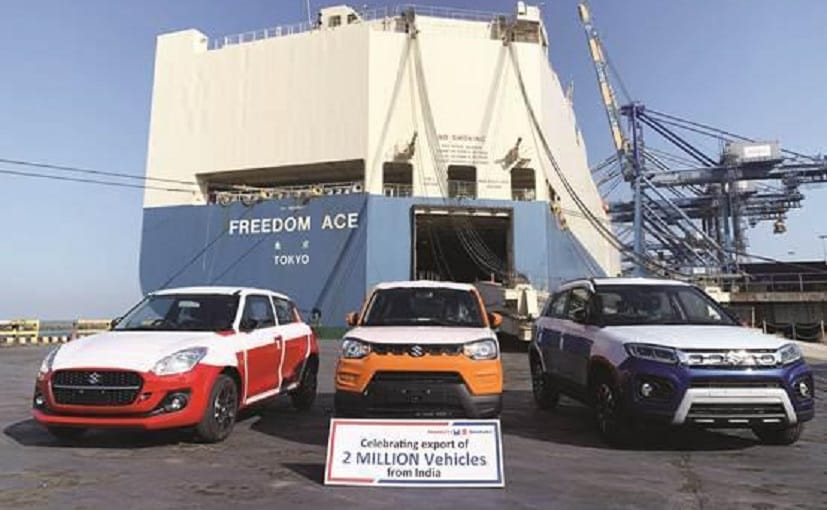 Maruti Suzuki India has achieved a milestone of two million vehicle exports